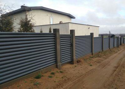 листовой евроштакет забор