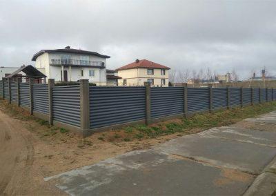 листовой забор