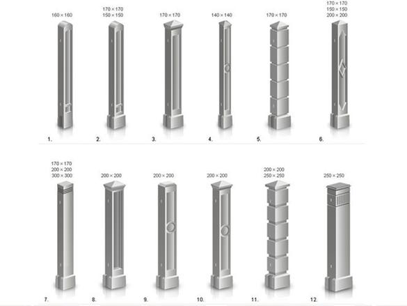 виды столбов